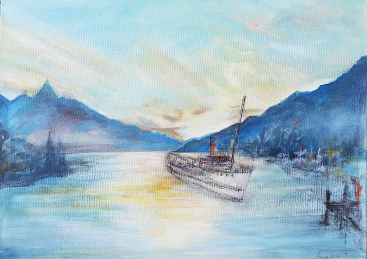 Queenstown, acrylic on canvas