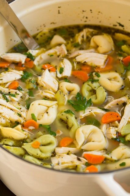 Tortellini Chicken Noodle Soup | Cooking Classy
