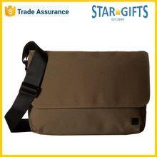 Wholesale High Quality Shoulder Type Canvas Brown Laptop Messenger Bag