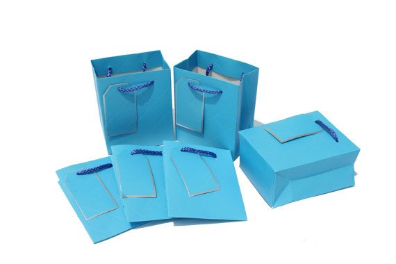 10 pcs 4x5x2.5inch / 11x14x6.5Cm / Sky Color / Mini by EnGREEN