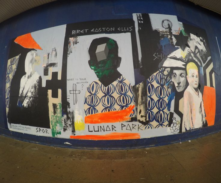 'Bret Easton Ellis' mural, St. George's Walk, Croydon. Thanks to Rise Gallery