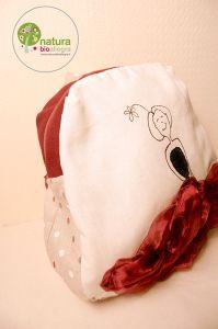 Zainetto bimbo Bambola con gonna in rosso