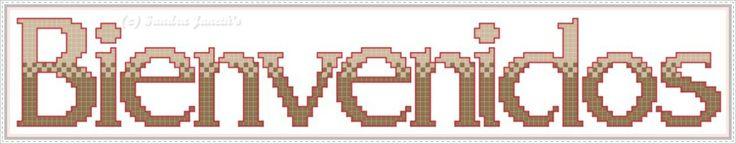Esquema Gratuito.  Bienvenidos (Letras) www.sandrajaneths.blogspot.com