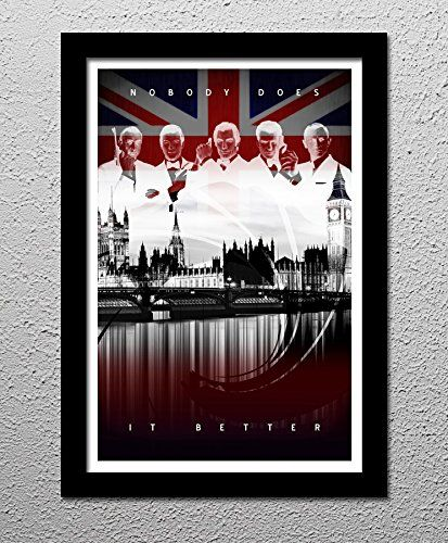 James Bond - 007 Sean Connery - Roger Moore - Timothy Dalton - Pierce Brosnan - Daniel Craig - Original Minimalist Art Poster Print. James Bond - 007 Sean Connery - Roger Moore - Timothy Dalton - Pierce Brosnan - Daniel Craig! Your choice of 13x19 or 20x30 All prints signed by the artist. Posters printed on high quality Photo Paper with premium quality inks. The posters are mailed rolled in high-quality tough tubes and cover sheet.