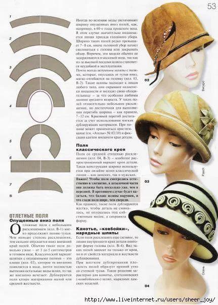 выкройки шляпок женских из ткани фото трахают
