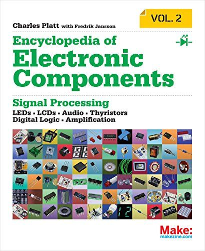 Make: Encyclopedia of Electronic Components Volume 2: LEDs, LCDs, Audio, Thyristors, Digital Logic, and Amplification by Charles Platt http://www.amazon.com/dp/1449334180/ref=cm_sw_r_pi_dp_NnOFvb0QPPXHX