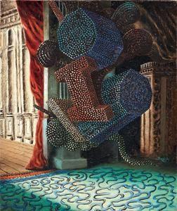 Alberto Savinio Atene 1891 - Roma 1952 Le fantôme de l'Opéra, 1929 Olio su tela, cm. 65x54,3