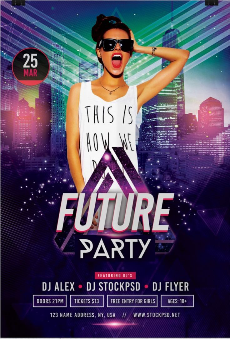 Future Party Free Flyer Template Free flyer