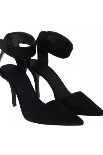 Black Suede Thin Heeled Heels - Size Bigger by One Unit [is00118]- US$119.99 - PersunMall.com