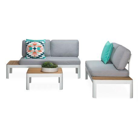 Adelphi 3 Piece Outdoor Lounge Set Teak Amp Aluminium