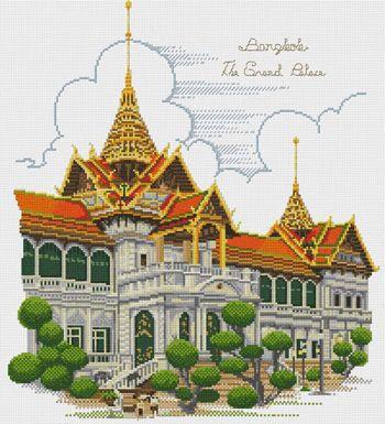image cross stitch Thai.