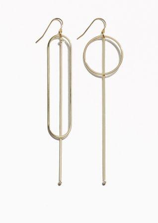 & Other Stories   Geometric Pendant Earrings