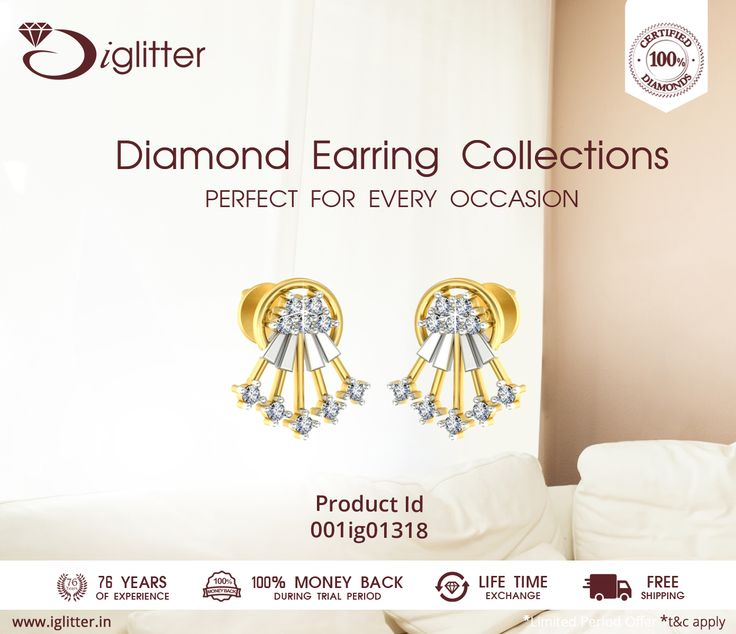 Diamond Earring Collections of IGlitter - Perfect for any Occasion ♥   Shop Now : http://bit.ly/1FcyNSH    #iGlitterindia #Diamonds #Earrings #Jewellery