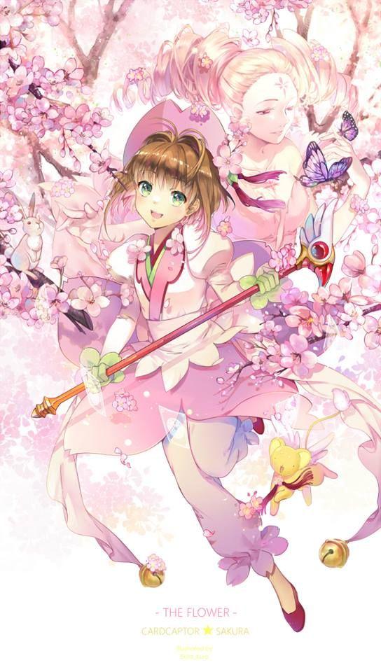 K sakura and Flower - Cardcaptor Sakura (By Ekita)