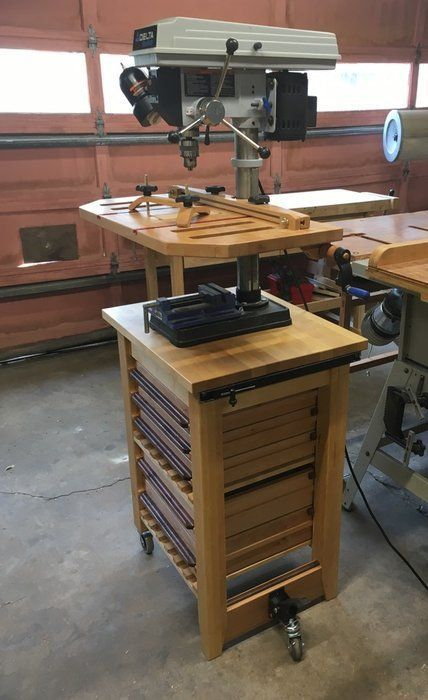 a drill press table, hold-downs and things