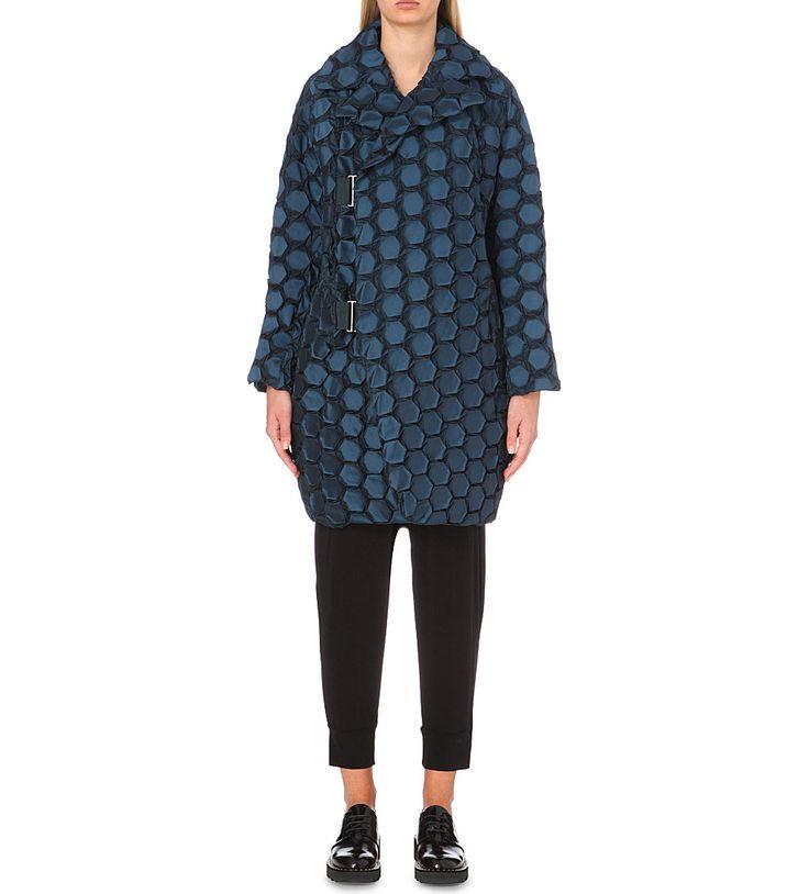 ISSEY MIYAKE - Textured longline coat | Selfridges.com