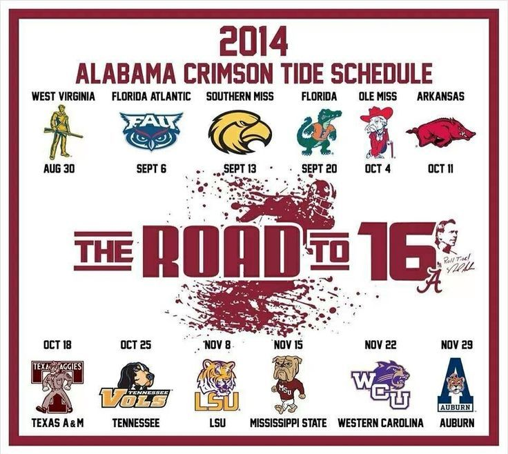 alabama football schedule 2014 printable