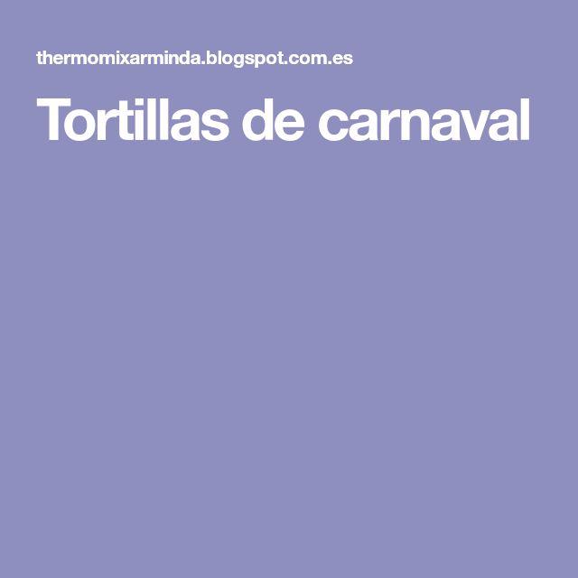 Tortillas de carnaval