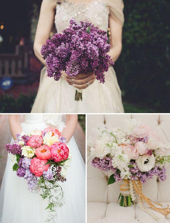 Flores para bodas: lilas