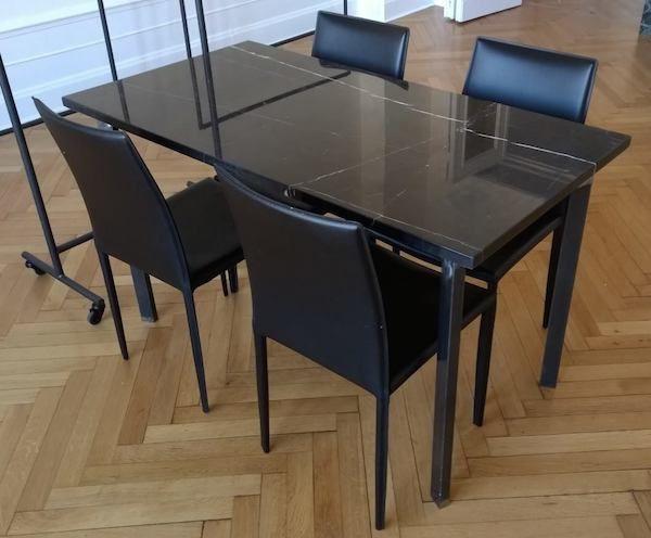 ber ideen zu marmor esstische auf pinterest esstische esszimmer und au enterasse. Black Bedroom Furniture Sets. Home Design Ideas