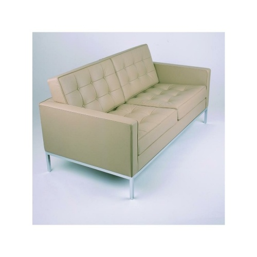 Beige Leather Florence Knoll Sofa £699