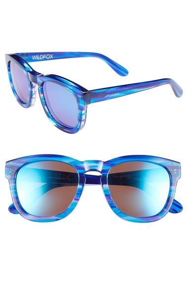 Wildfox 'Classic Fox - Deluxe' 50mm Sunglasses with the cool blue look of the oceans.