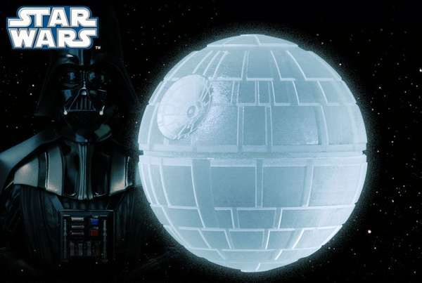The Star Wars Death Star Silicone Ice Cube Tray is Geeky Cool #icecubes #colddrinks trendhunter.com