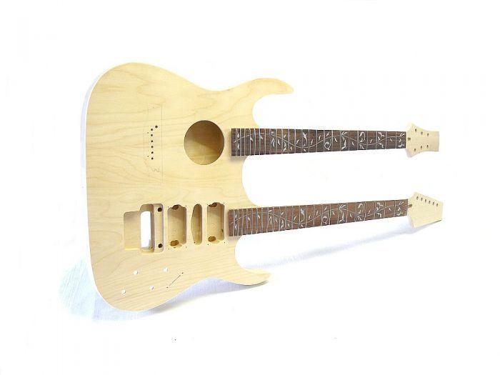 E-Gitarren/Akustik- Gitarren Bausatz Double Neck