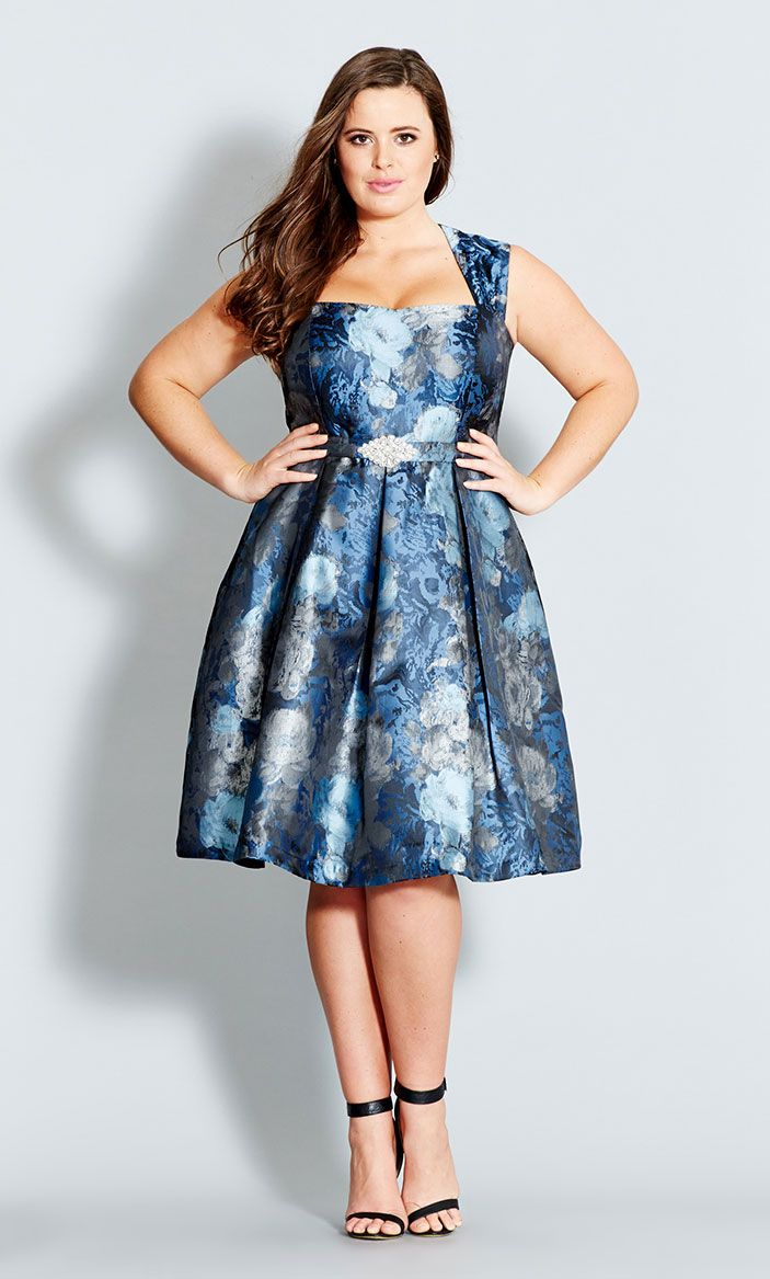 City Chic - BROCADE BELLE DRESS  - Women's Plus Size Fashion Wedding reception dress