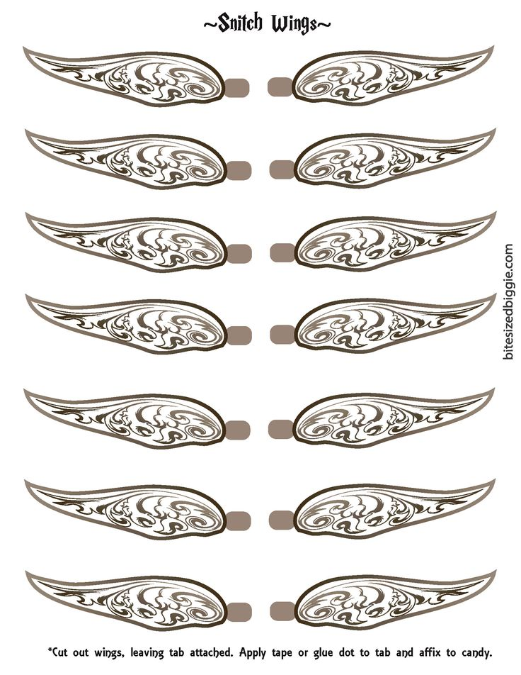 Candid image pertaining to golden snitch wings printable