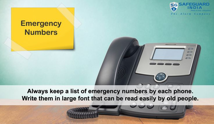 Write numbers of family members in large font so that old people can read them easily.  Visit http://www.safeguardindia.com/