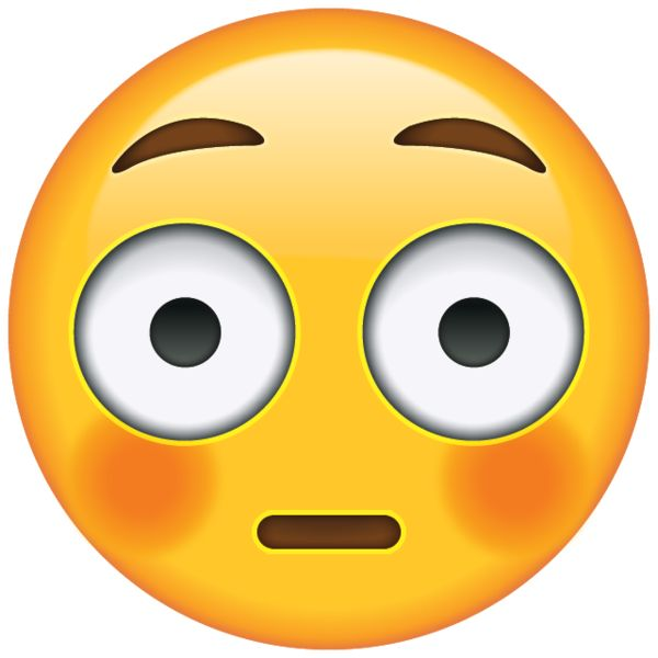 Feeling completely mortified at the moment? This emoji will come to your rescue and let everyone know you're blushing and wide eyed!