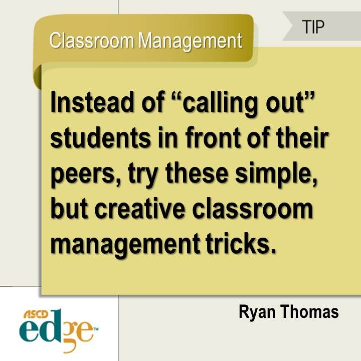 In this ASCD EDge blog post, Ryan Thomas shares eight tips to manage your classroom without interruptions.