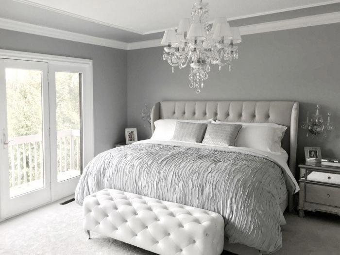 Graue Bettdecke Graue Kissen Welche Farbe Passt Zu Grau Weisser