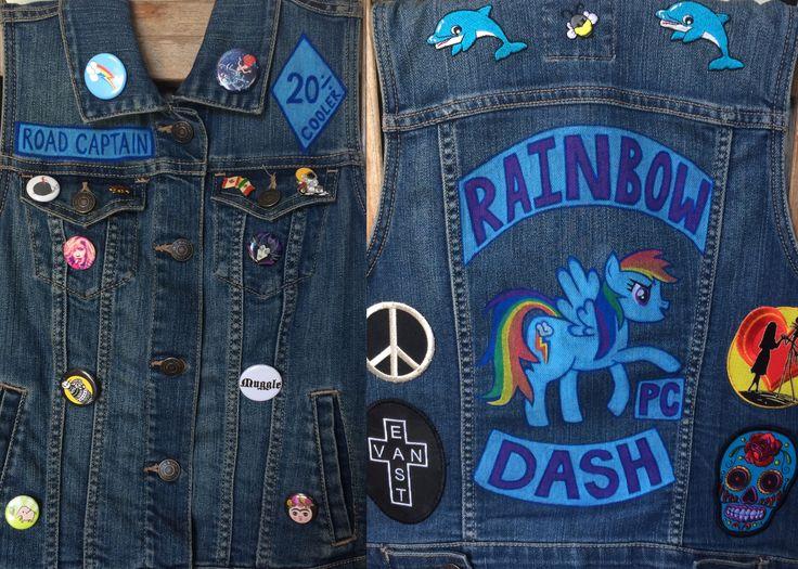 #Official #PonyClub #RoadCaptain!!!  ✏️2️⃣0️⃣%ER #Bee #art #artist #creative #custom #handmade #diy #draw #paint @poscagallery #paintpens @mylittlepony #RainbowDash #MyLittlePony #PC #pegasus #pony #cutiemark #rainbow #wings #Brony #Pegasister #jean #denim #vest #cut #patches #pins #TwentyPercentCooler