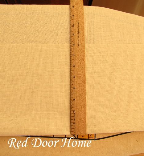 Red Door Home: How to Sew Curtain Panels with Lining and/or Interlining