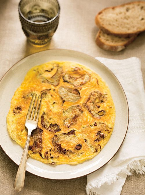Artichoke Omelette | Breakfast & brunch deliciousness | Pinterest