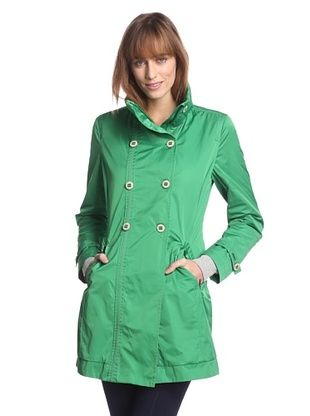 82% OFF Rainforest Outerwear Women's Packable Double-Breasted Raincoat (Grass)