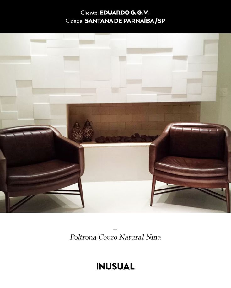 Poltrona Couro Natural Nina - Eduardo - Inusual - Smart Decor