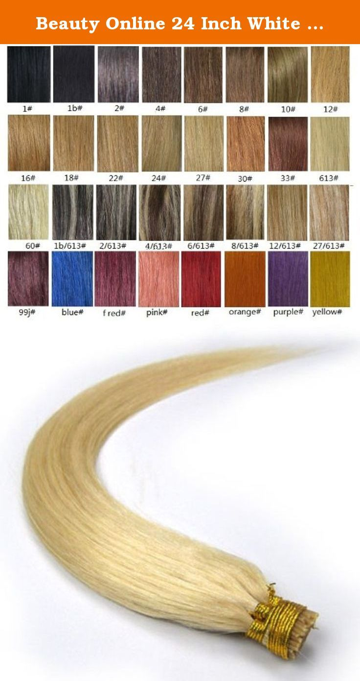 Beauty Online 24 Inch White Blonde (#60) 100s Straight Stick I Tip Fusion Human Hair Extensions - 100% Remy Human Hair Extensions. 100% remy human hair extensions and very competitive price. stick tip/I tip hair Can be washed, heat styled. High quality, tangle free, silky soft. 200-300strands are recommended for whole head. THERE ARE ANOTHER COLOURS AND SIZES CAN BE CHOSEN IN OUR SHOP.