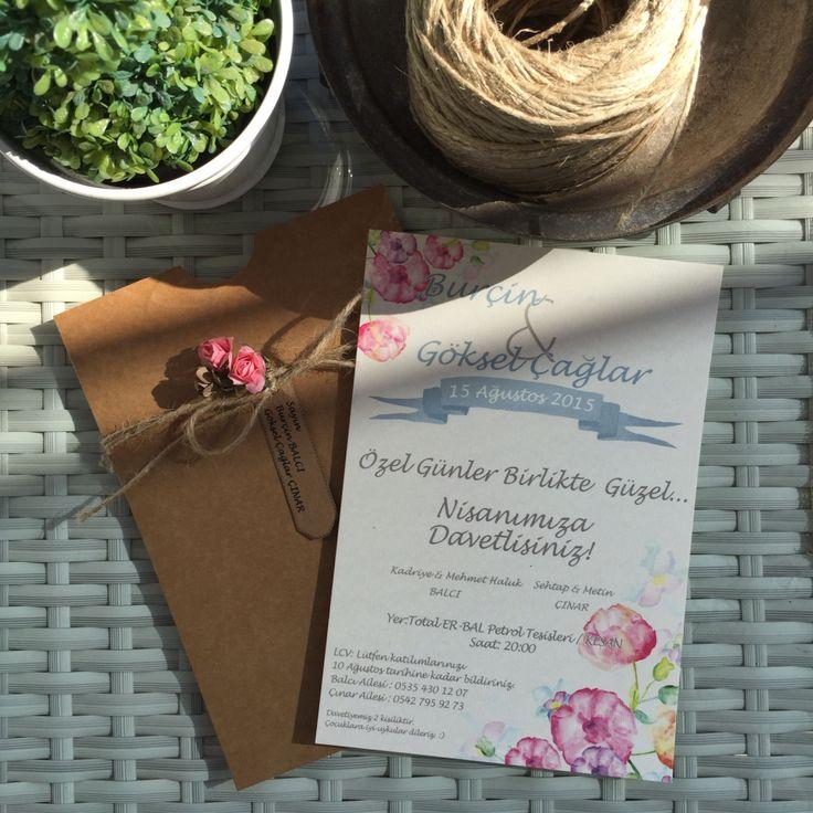 Nişan davetiyesi / Engagement invitation