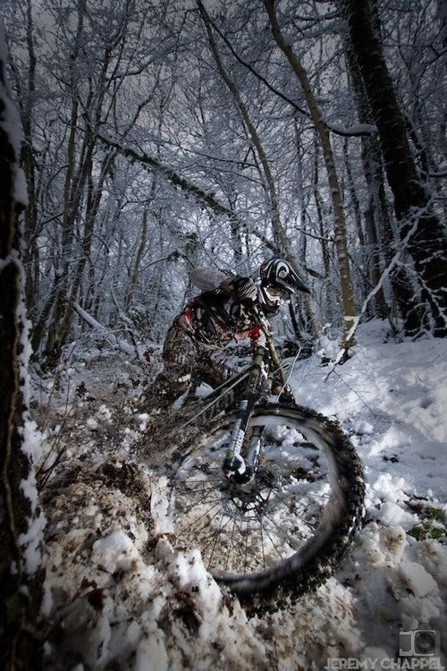 Biking on the snow