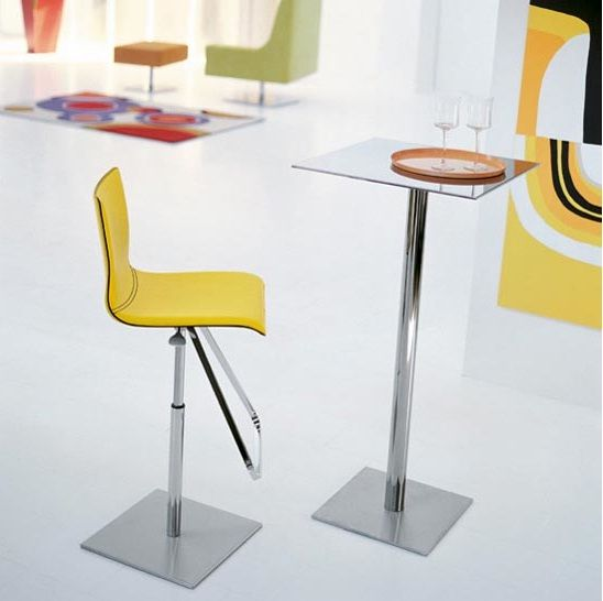modern swivel and adjustable in height stool for bistro and cafe design from Ego collection