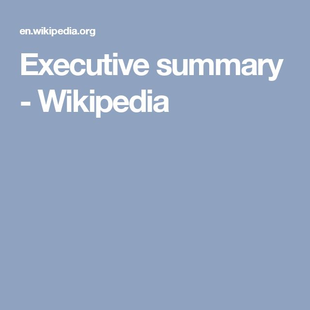 10 best Executive Summary images on Pinterest Executive summary - executive summary