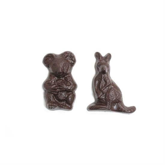 CW1172 Kangaroo & Koala Australia Chocolate Mould - Savour Chocolate & Patisserie School