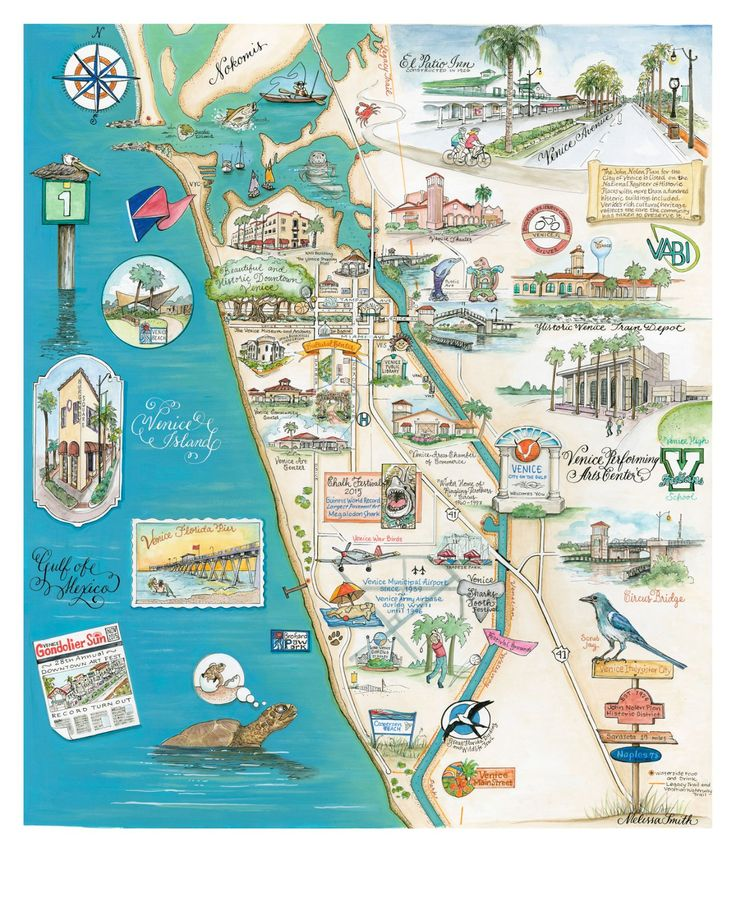 Venice Florida Map Venice, Florida Map   This map is one of the prettiest maps I have  Venice Florida Map