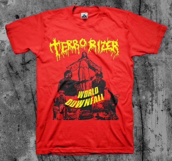 TERRORIZER  World Downfall  T shirt (Napalm Death Repulsion ENT Autopsy)