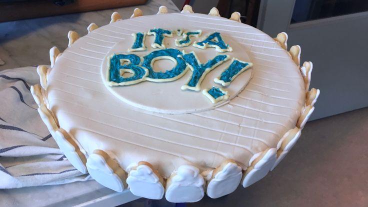 Gender Reveal Cake; It's a boy!