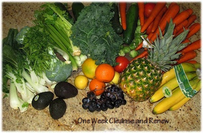 """Cleanse & Renew""   Gentle Cleanse / Detox One Week Program at the comfort of your home."