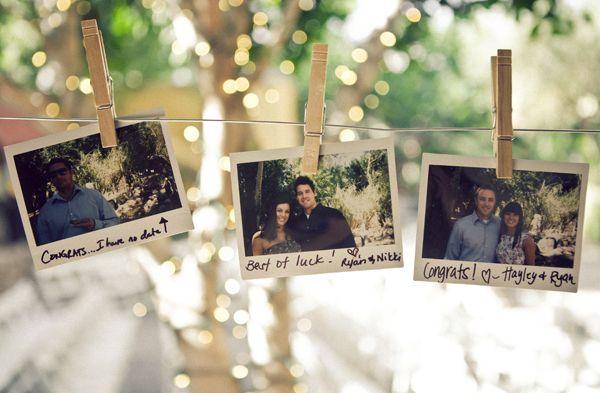 Polaroids met een persoonlijke boodschap van je gasten, fantastisch!
